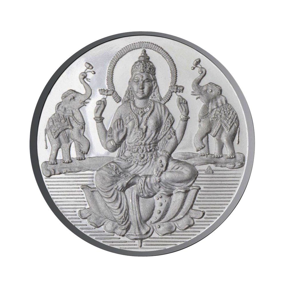 Goddess Laxmi Coin In Pure Silver 50 Gms