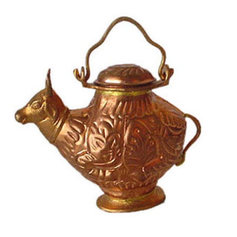 Nandi Abhishek Pot In Copper
