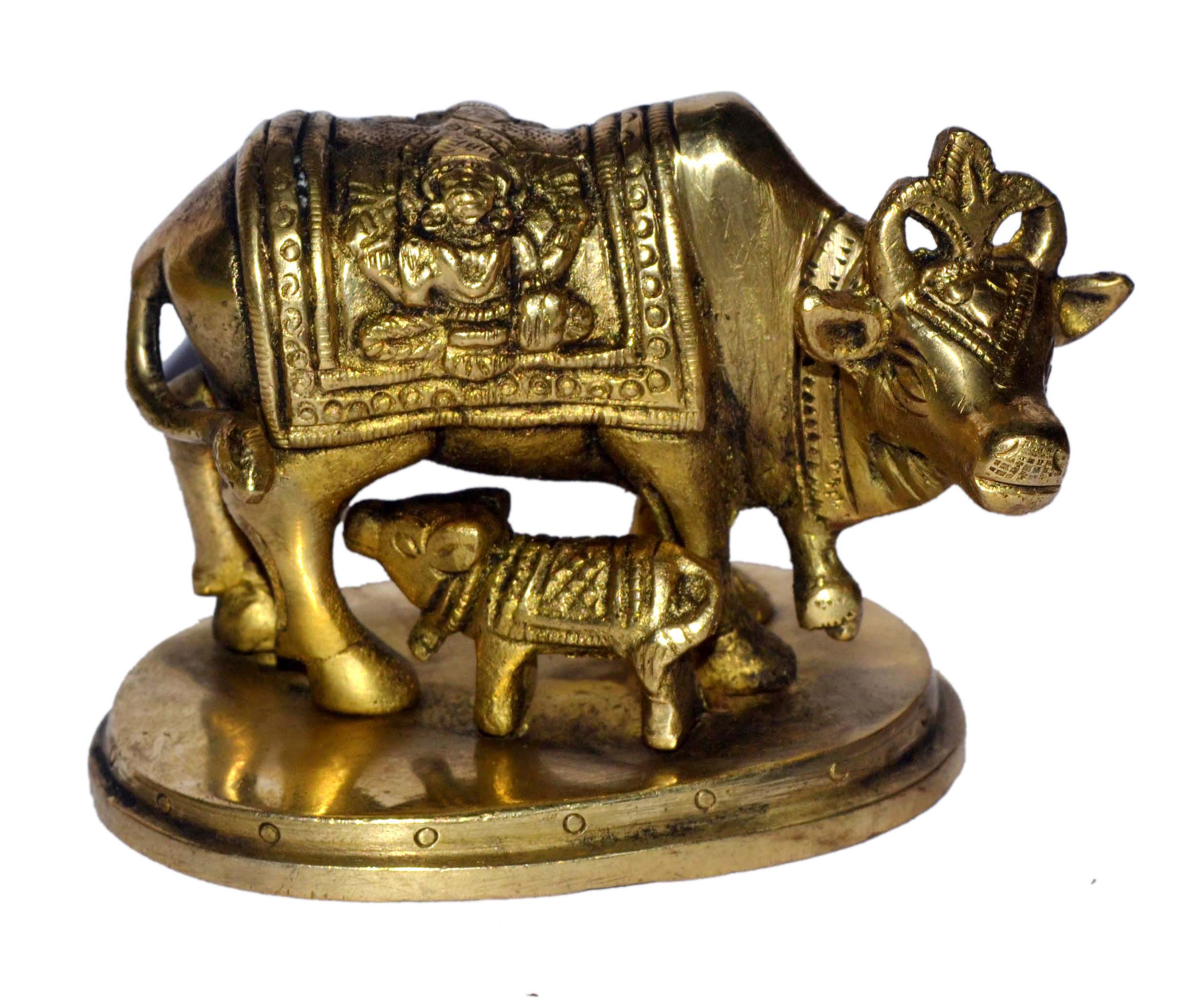 Cow In Brass